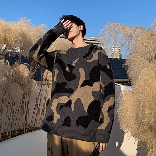 JFHGNJ Maglione Mimetico Invernale Uomo s Moda Calda Stile Militare Casual Pullover in Maglia Maglione a Maniche Lunghe Sciolto Selvaggio Abbigliamento Maschile-Army Green_L