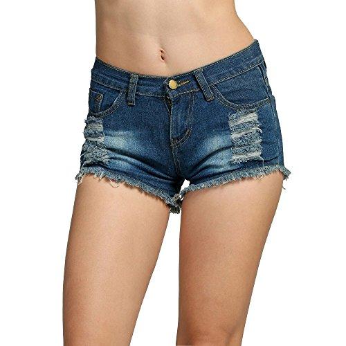 Wreapped Well Teamyy Pantalones Vaqueros Jeans Shorts Cortos KJclF1