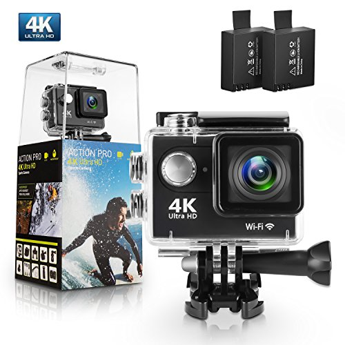 จัดการที่ดีที่สุด Action Camera, Bekhic WiFi Ultra Waterproof Sport Camera with 12MP 170 Degree Wide-Angle Lens and