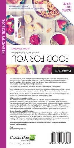 Food for You Australian Curriculum Edition Book 1 Interactive Textbook pdf epub