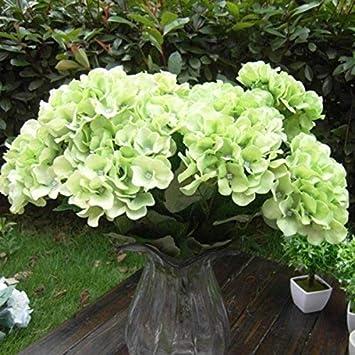 5five Kunstliche Hortensie Big Blumen 7 Kopfe Home Deko Hochzeit