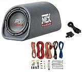 MTX RT8PT 8' 240W Car Loaded Subwoofer Enclosure Amplified Tube+ 8 Ga Amp Kit