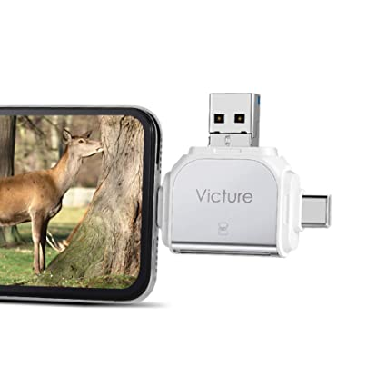 Victure Trail Game Camera Viewer for iPhone iPad Mac Android, Micro SD and  SD Memory Card Reader to View Wildlife Surveillance Photos and Videos on