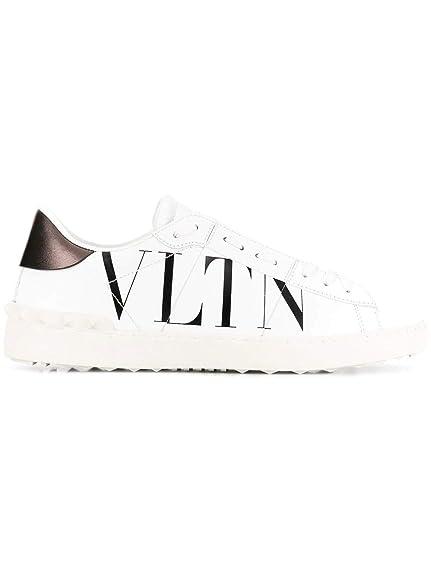 Valentino Garavani Hombre RY2S0830PSTA01 Blanco Cuero Zapatillas: Amazon.es: Zapatos y complementos