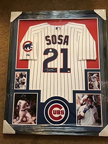 (Sammy Sosa Autographed Signed Framed Jersey - Authentic Memorabilia)