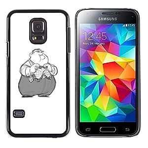 Be Good Phone Accessory // Dura Cáscara cubierta Protectora Caso Carcasa Funda de Protección para Samsung Galaxy S5 Mini, SM-G800, NOT S5 REGULAR! // Kids Obese Nixon Cartoon Charac