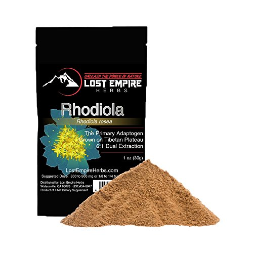 Cheap Rhodiola Rosea Organic Extract Powder – Adaptogenic Supplement – Fights Fatigue, Lowers Stress, Increases Mental Work Capacity – Gluten Free, Paleo and Vegan Friendly – (30 g)