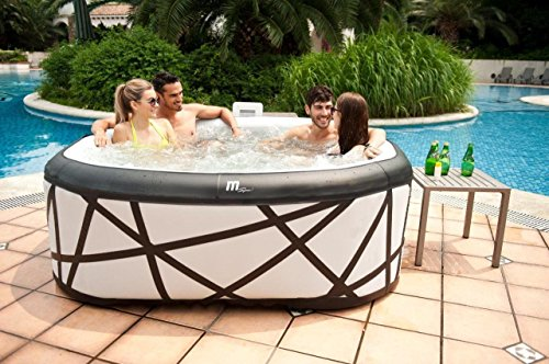MSPA Soho Inflatable Hot Tub, Mist White