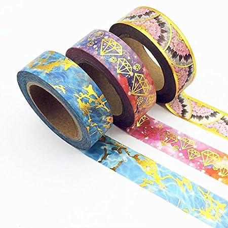 Lot de 6 Washi Tape Masking Tape Ruban Noel Cadeau Adhésif Ruban décoratif