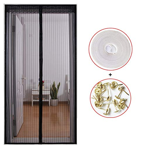 JFFFFWI Mosquito Anti-Les y Summer Magnetic Screen Door, Full Frame Velcro The bedrooms Heavy Duty mesh-Silent Screen Snap Automatically Close The Screen mesh Door-K 80 x 210 cm (31 x 83 Customs)