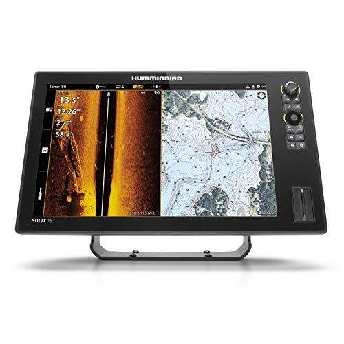 Humminbird SOLIX 15 G2 Fish Finder with Chirp, Mega Si+, GPS, and 15.4-Inch-Display