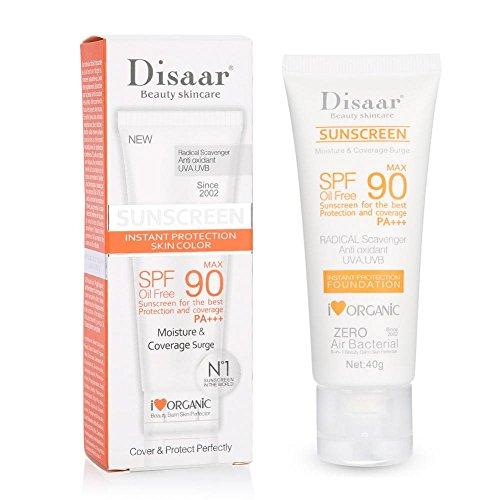 - Moisturising Sun Screen, SPF50++ Sunscreen Cream Face and Neck Whole Body Sun UV Radiation Protection Block Moist Whitening Sun Screen - 40ml