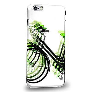 """Case88 Premium Designs Art Psychedelic Bicycle Light Green Protective Snap-on Hard Back Case Cover for Apple iPhone 6 Plus 5.5"""""""