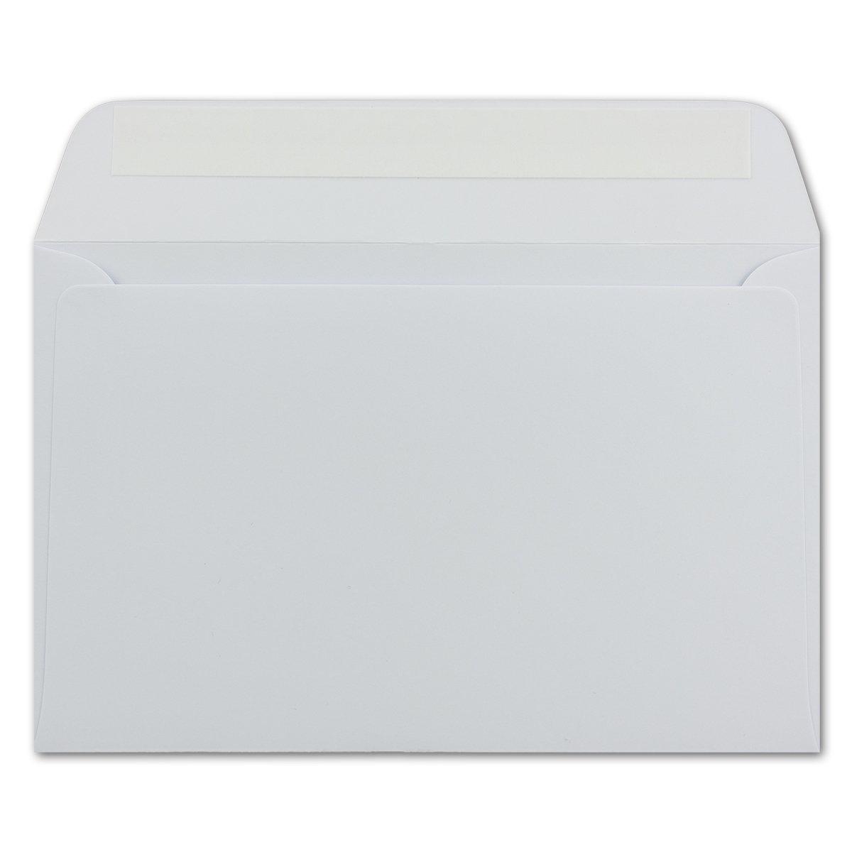 di colore bianco Buste da lettera formato B6 125/x 185 mm con striscia adesiva 25 Umschl/äge bianco