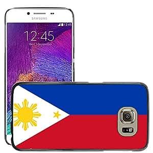 GoGoMobile Etui Housse Coque de Protection Cover Rigide pour // V00001141 filipinas bandera nacional País // Samsung Galaxy S6 (Not Fits S6 EDGE)