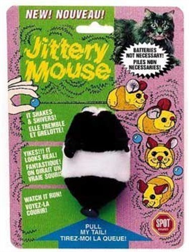 Ethical Plush Jittery Mouse Cat Toy, 3-Inch