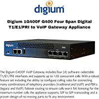 DIGIUM, INC. 1G400F / Four Span Digital T1/E1/PRI to VoIP Gateway Appliance North America