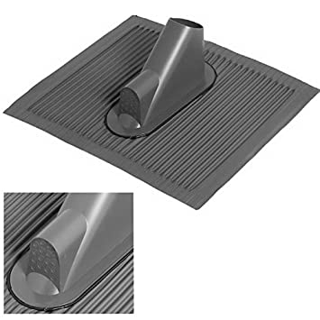 Aluminium Dachpfanne; Mastdurchf/ührung; Dachabdeckung Dachziegel mit Kabeldurchf/ührung f/ür bis zu 16 Leitungen; schwarz; grosse Platte; anpassbar an jede Ziegelform; ...die Alternative zum Bleiziegel; schwermetallfrei umweltfreundlich