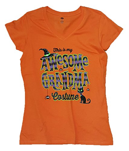 Halloween This Is My Awesome Grandma Costume Graphic T-Shirt - Small (Halloween Costume Shirts)