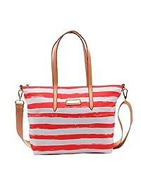 Parlontis ®New women's handbag Leisure Shoulder Messenger Bag Korean version of the trend Nylon shoulder bag--06 (orange sun(31*11*29cm))