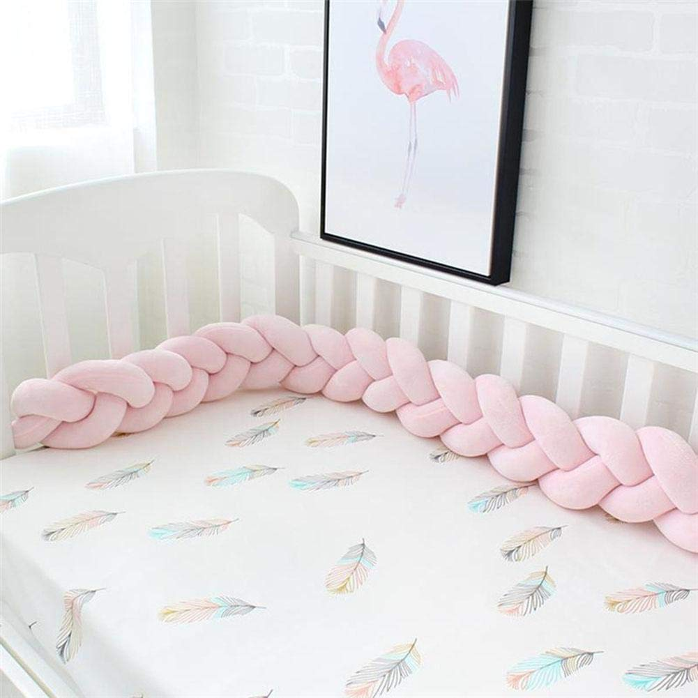 Per Newly Baby Crib Bumpers Braids Children's room decoration DIY hand-made twist bed circumference Long knot ball pillow