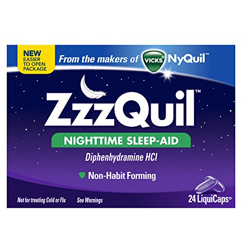 Vicks ZzzQuil Nighttime Sleep-Aid Liquicaps 24 Count