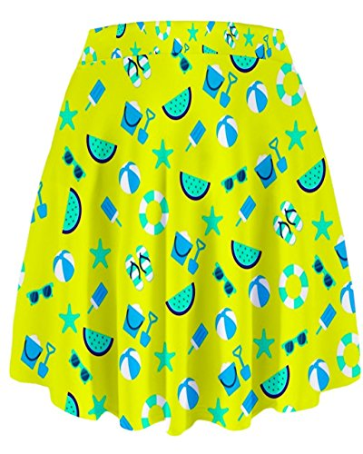 CowCow - Falda - para mujer Blue and yellow