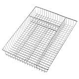 Ybm Home Metal Wire Chrome Plated Kitchen Flatware, Cutlery Organizer/Tray Holder Storage 2558