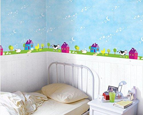 Peel & Stick Wall Decoration Sticker [Farm : SWST-24] Mural Decal Sticker - Made in South Korea