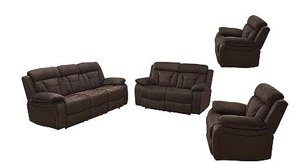 Fine Amazon Com Betsy Furniture 4Pc Microfiber Fabric Recliner Machost Co Dining Chair Design Ideas Machostcouk