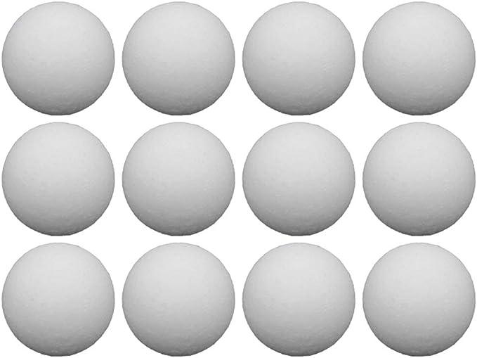 LIOOBO 12 Piezas de Mesa de fútbol de Bolas de reemplazo de Bolas de Mesa Juego de Bolas de Mesa de Accesorios de plástico (Blanco / 36 mm): Amazon.es: Deportes y aire libre