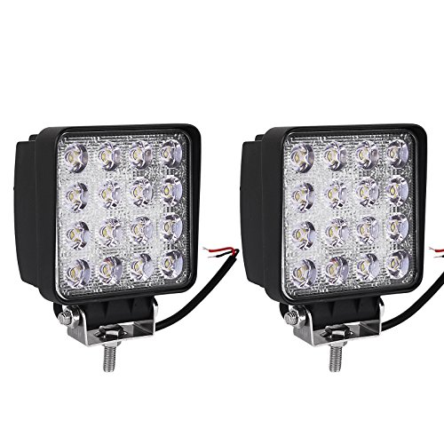 LED Light Bar YITAMOTOR 2Pcs 4inch 48W Square LED Pod Light
