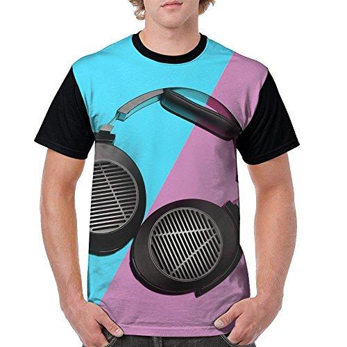 Price comparison product image MilcoTH Man Huge Hanging Headphones O Neck Tees Teeshirt