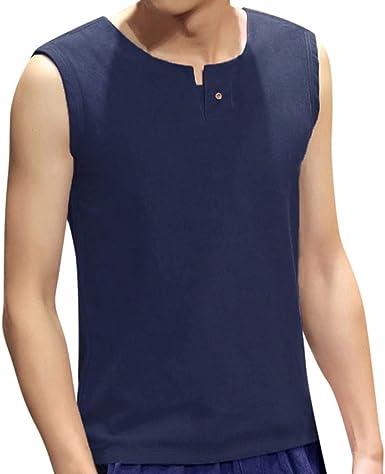 TUDUZ Hombres De Tirantes Camisa con Capucha Camisetas Sin Mangas Estilo Camuflaje Tank Top Deportivo