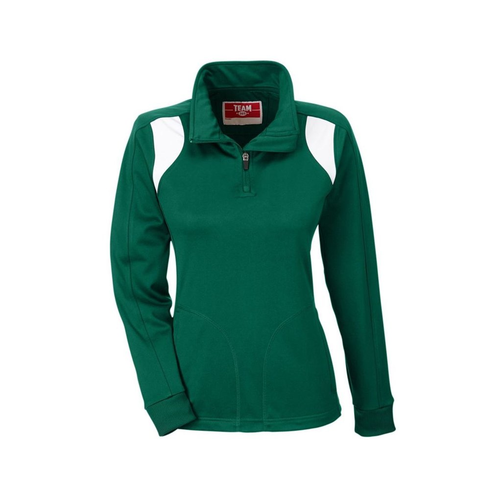 Ash City Apparel Team 365 Ladies Elite Performance Quarter Zip (XX-Large, Sport Forest/White) by Ash City Apparel