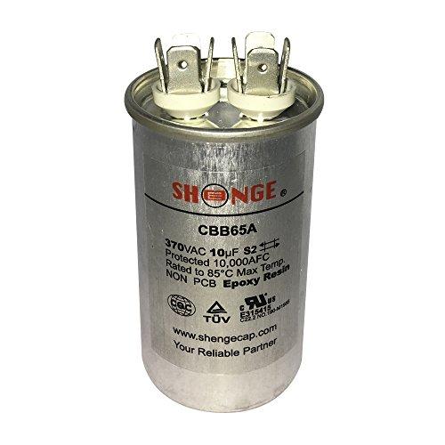 - Motor Run Capacitor 10mfd 370V VAC Volt 10uf Round