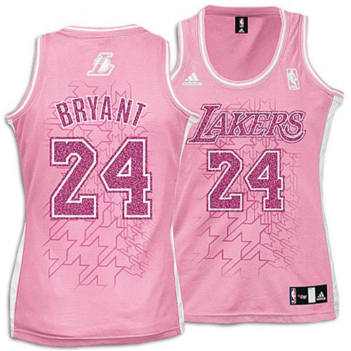 Amazon.com   Lakers - adidas Women s NBA Pink Caddy Jersey - Bryant ... 2eb1f9ee9