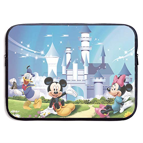 LOSUJSDB Mickey and Minnie Mouse Couple Water-Reaistant Laptop Sleeve Case Bag Portable Messenger Bags Briefcase Sleeve Protective Carrying Bags Cover 13/15 Inch (Disney Laptop Accessories)