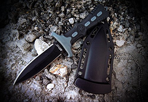 MTech USA MT 20 14 Series Fixed Blade Neck Knife, 6 1/2 Inch Overall