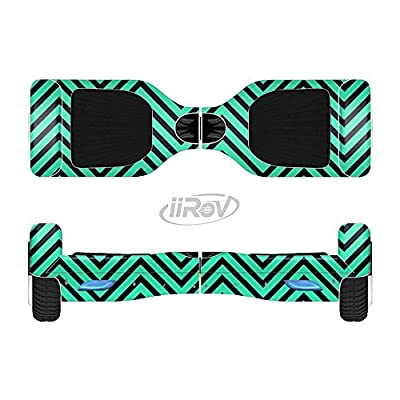 Design Skinz The Sharp Chevron Black and Mint Green Full-Body Wrap Skin Kit for The iiRov HoverBoards and Other Scooter (Hoverboard NOT Included) : Sports & Outdoors