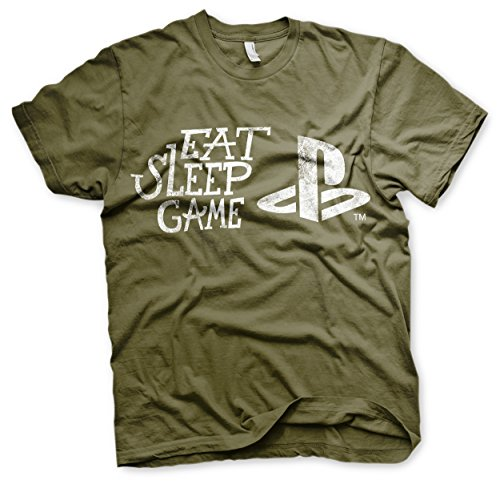 PS - Eat Sleep Game Official T-Shirt (Olive)