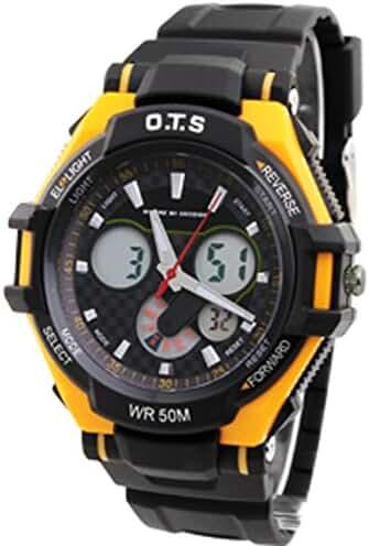 Boys fashion sports watch/Multifunctional waterproof night Photonics table-F