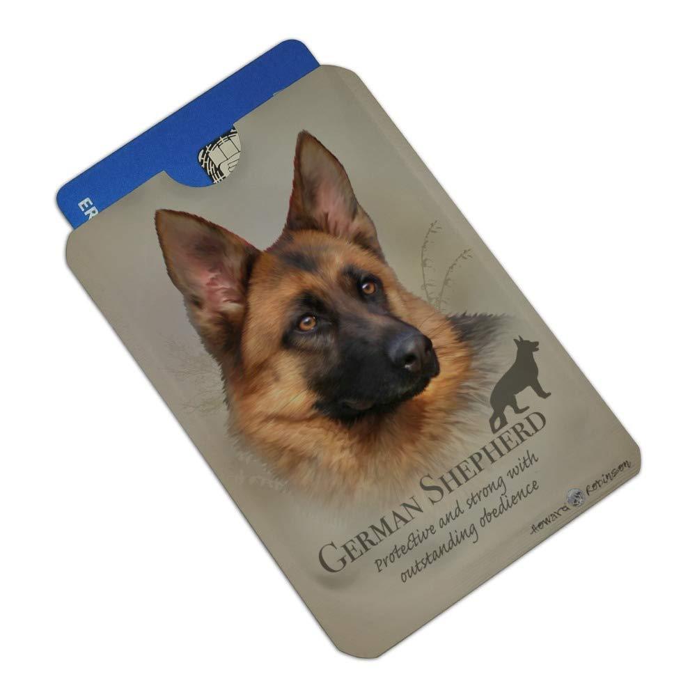 German Shepherd Dog Breed Credit Card RFID Blocker Holder Protector Wallet Purse Sleeves Set of 4