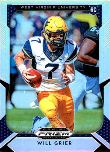 2019 Panini Prizm Draft Picks Prizms Silver #104 Will Grier West Virginia Mountaineers NCAA College Football Trading Card