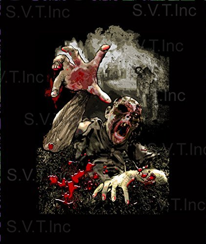 NT Walking Dead Zombie Luxury Plush Queen Size Blanket - 79x95 Inches