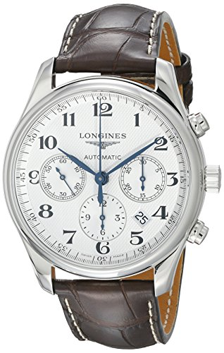 - Longines Master Chronograph Automatic Silver Dial Mens Watch L27594783