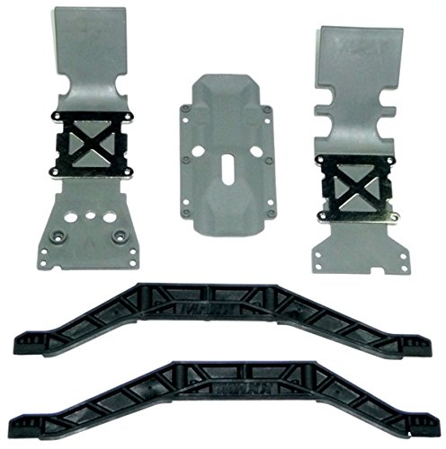 Traxxas E-Maxx Brushed * FRONT, REAR & TRANSMISSION SKID PLATES & CHASSIS BRACE* (Plate Maxx Rear Skid)