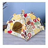 Stock Show Bird Tent Parrot Hanging Hammock with Soft Dual-use Mat Budgerigar Cockatiels Cockatoo Conure Lovebird Finch Nest Parakeet Tent Hut Cage Decor for Small Animals Birds, Yellow