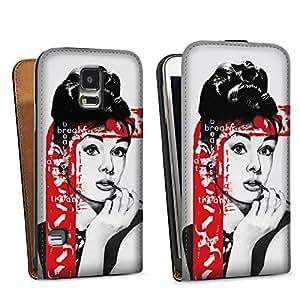 Diseño para Samsung Galaxy S5 DesignTasche black - Audrey Hepburn