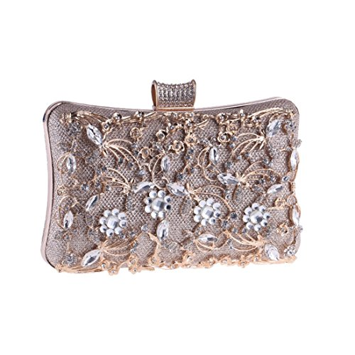 Evening and Carpet Bag Hollow Handbags Champagne Women Banquet Clutch Red Diamond American Color Fly Evening Champagne Out Bag European The Bag 5YxqnwawI6